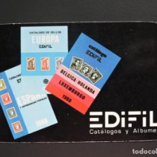Coleccionismo Calendarios: CALENDARIO BOLSILLO - FILATELIA NUMISMATICA - EDIFIL - AÑO 1980. Lote 163452569