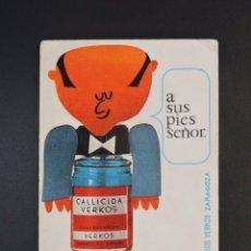 Coleccionismo Calendarios: CALENDARIO BOLSILLO MEDICAMENTO - CALLICIDA VERKOS - ZARAGOZA - AÑO 1967. Lote 162135470