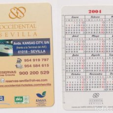 Coleccionismo Calendarios: CALENDARIO FOURNIER. HOTEL OCCIDENTAL SEVILLA 2004. Lote 162172757