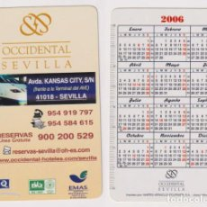 Coleccionismo Calendarios: CALENDARIO FOURNIER. HOTEL OCCIDENTAL SEVILLA 2006. Lote 162172765