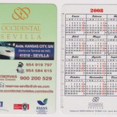 Coleccionismo Calendarios: CALENDARIO FOURNIER. HOTEL OCCIDENTAL SEVILLA 2008. Lote 162179684