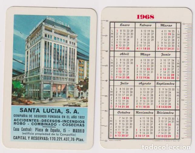 Santa Lucia Calendario.Calendario Fournier Santa Lucia 1968
