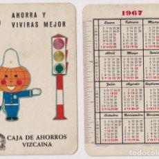 Coleccionismo Calendarios: CALENDARIO FOURNIER. CAJA DE AHORROS VIZCAÍNA 1967. Lote 162180084