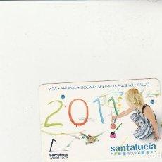 Coleccionismo Calendarios: CALENDARIO SEGUROS SANTALUCIA 2011. Lote 162475438