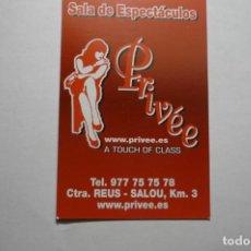 Coleccionismo Calendarios: CALENDARIO 2010 SALA ESPECTACULOS PRIVEE -. Lote 162981358
