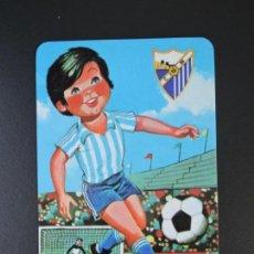 Coleccionismo Calendarios: CALENDARIO BOLSILLO - FÚTBOL C.D. MÁLAGA - SIN SERIE - AÑO 1989. Lote 163500694