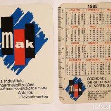 Coleccionismo Calendarios: SOCIEDADE DE GELATINAS DO NORTE - CALENDARIO EDITADO EN PORTUGAL - 1985. Lote 163845466