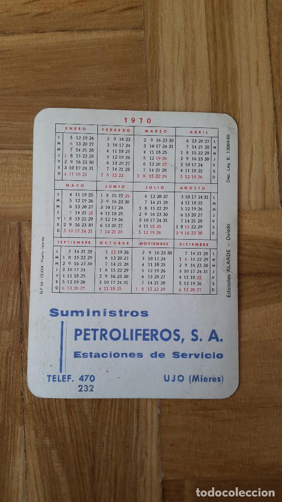 Coleccionismo Calendarios: CALENDARIO EDICIONES ALARDE (OVIEDO) - GIJÓN - PUERTO INTERIOR AÑO 1970 - VER FOTO ADICIONAL - Foto 2 - 163996106