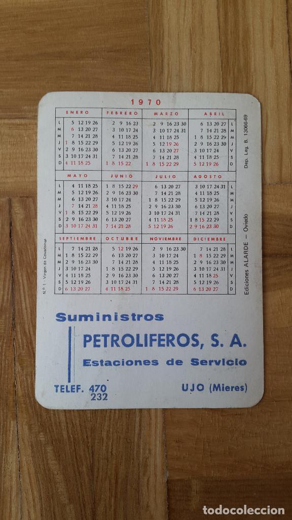 Coleccionismo Calendarios: CALENDARIO EDICIONES ALARDE (OVIEDO) - VIRGEN DE COVADONGA AÑO 1970 - VER FOTO ADICIONAL - Foto 2 - 163996302