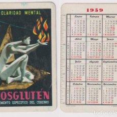 Coleccionismo Calendarios: CALENDARIO FOURNIER. FOSGLUTEN 1959. Lote 164383582