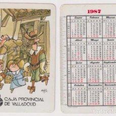 Coleccionismo Calendarios: CALENDARIO FOURNIER. CAJA PROVINCIAL DE VALLADOLID 1987. Lote 164385476