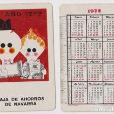 Coleccionismo Calendarios: CALENDARIO FOURNIER. CAJA DE AHORROS DE NAVARRA 1972. Lote 164385632