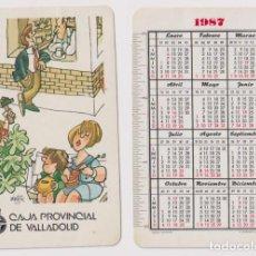 Coleccionismo Calendarios: CALENDARIO FOURNIER. CAJA PROVINCIAL DE VALLADOLID 1987. Lote 164385768