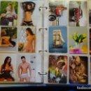 Coleccionismo Calendarios: ÁLBUM CON 300 CALENDARIOS DE BOLSILLO. FÚTBOL, DESNUDOS, RELIGIOSOS, ANIMALES. 1,6 KG. Lote 164976650