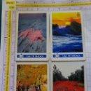 Coleccionismo Calendarios: 4 CALENDARIOS DE BOLSILLO FOURNIER. AÑO 1991. CAJA DE AHORROS DE MÁLAGA. Lote 164978378