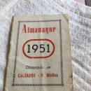 Coleccionismo Calendarios: ALMANAQUE 1951. Lote 164984001