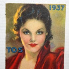 Coleccionismo Calendarios: CALENDARIO EN PEQUEÑO FORMATO DEL AÑO 1937 CON PUBLICIDAD. DR. ANDREU (PASTILLAS, CREMA, ELIXIR...). Lote 165166322