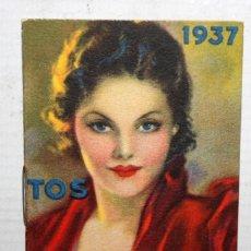 Coleccionismo Calendarios: CALENDARIO EN PEQUEÑO FORMATO DEL AÑO 1937 CON PUBLICIDAD. DR. ANDREU (PASTILLAS, CREMA, ELIXIR...). Lote 165166450