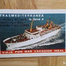 Coleccionismo Calendarios: CALENDARIO FOURNIER -- TRASMEDITERRANEA AÑO 1974 - VER FOTO ADICIONAL - BE. Lote 165409446