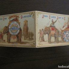 Coleccionismo Calendarios: JOHN CLARK JUN & Cº-ELEFANTE-CALENDARIO AÑO 1877-VER FOTOS-(V-17.116). Lote 165539358