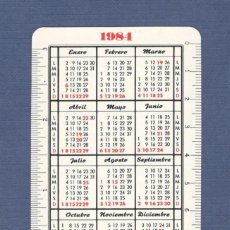 Coleccionismo Calendarios: CALENDARIO DE BOLSILLO FOURNIER AÑO 1984-1985 - PARDO. Lote 165568190