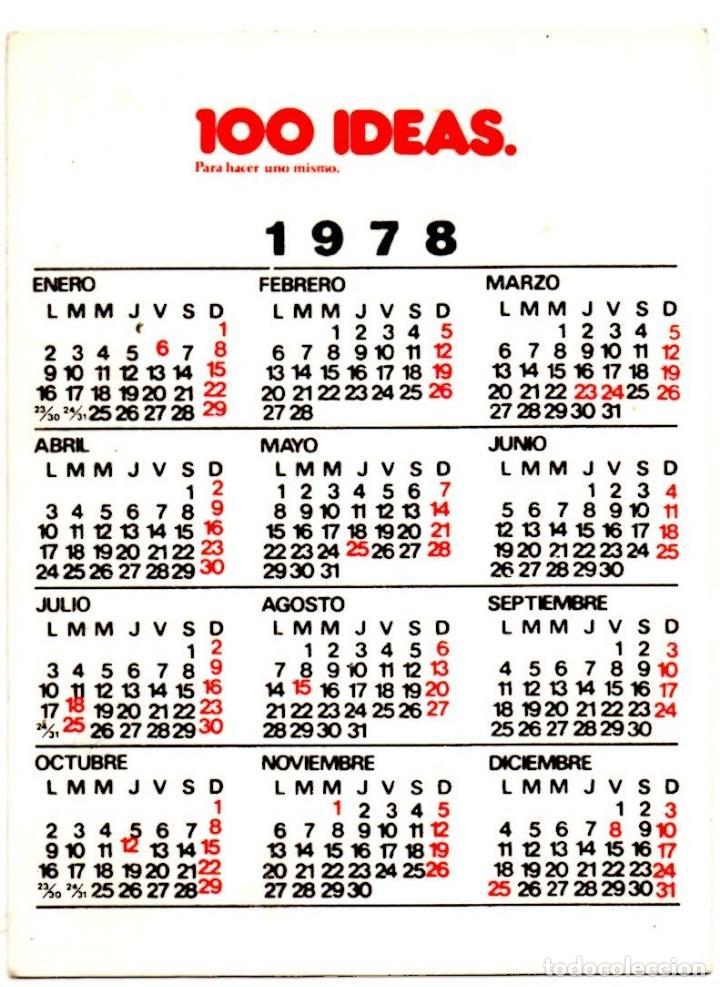 1978 Calendario.Calendario 1978 100 Ideas Sold Through Direct Sale