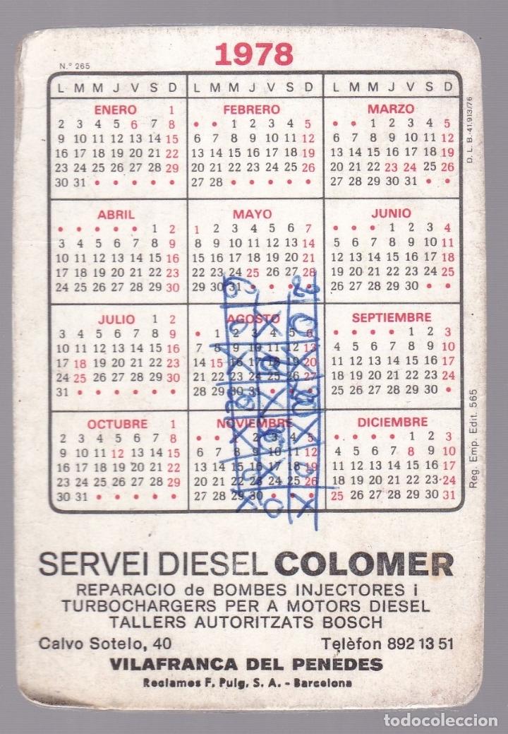 Calendario 1978.Calendario 1978 Visca El Barca Diesel Colomer Vilafranca Penedes