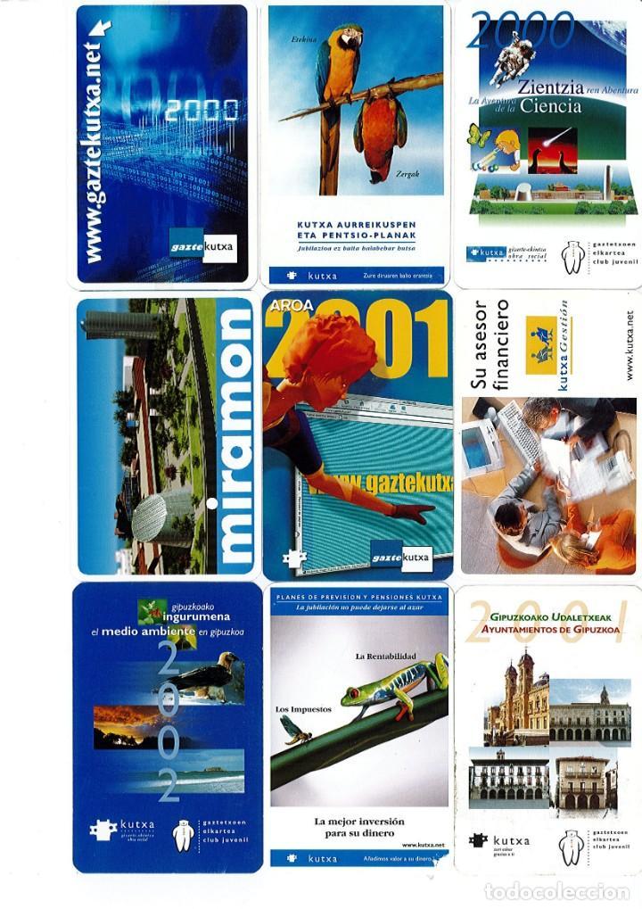 CALENDARIOS DE BOLSILLO DE LA CAJA GIPUZKOA SAN SEBASTIAN KUTXA NO FOURNIER -COLECCION DE 49 (Coleccionismo - Calendarios)