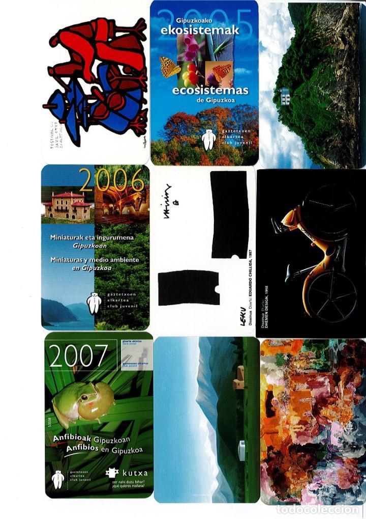 Coleccionismo Calendarios: Calendarios de bolsillo de la Caja Gipuzkoa San Sebastian KUTXA NO FOURNIER -Coleccion de 49 - Foto 3 - 165931938