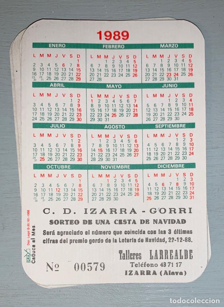 CALENDARIO DE BOLSILLO // C D IZARRA - GORRI // TALLERES LARREALDE // 1989 CINCO EJEMPLARES IGUALES (Coleccionismo - Calendarios)