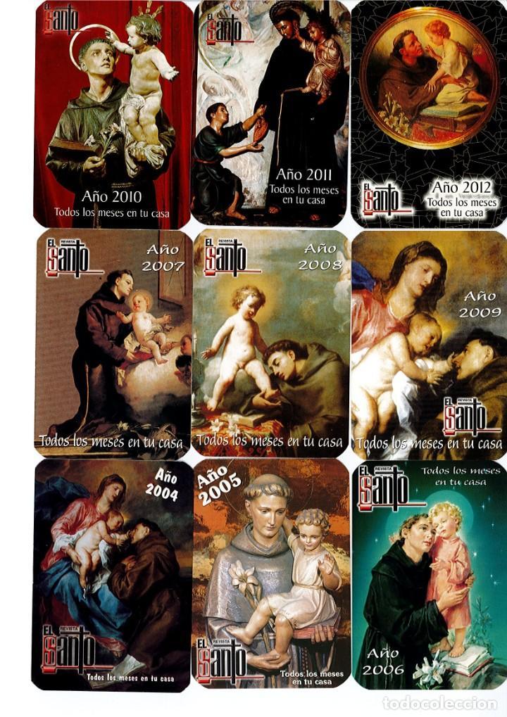 COLECCION DE 14 CALENDARIO DE LA REVISTA EL SANTO DESDE EL 2004 AL 2017 AMBOS INCLUSIVE (Coleccionismo - Calendarios)