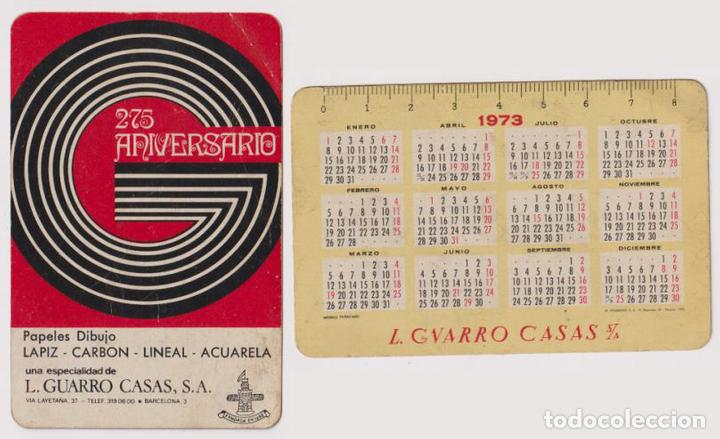 CALENDARIO FOURNIER. L. GUARRO CASAS 1973 (Coleccionismo - Calendarios)