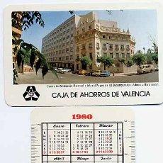 Coleccionismo Calendarios - CALENDARIO FOURNIER, PUBLICIDAD CAJA DE AHORROS VALENCIA , 1980 , ORIGINAL , CAD 88 - 166681546