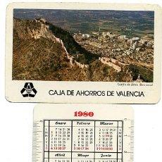 Coleccionismo Calendarios - CALENDARIO FOURNIER, PUBLICIDAD CAJA AHORROS VALENCIA , 1980 , ORIGINAL , CAD 155 - 166688366
