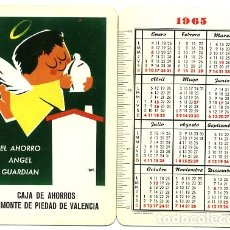 Coleccionismo Calendarios: CALENDARIO FOURNIER, PUBLICIDAD CAJA DE AHORROS VALENCIA , 1965 , ORIGINAL , CAD 183. Lote 166689586