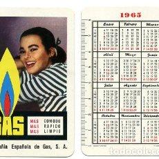 Coleccionismo Calendarios: CALENDARIO FOURNIER, COMPAÑIA ESPAÑOLA DE GAS , 1965 , ORIGINAL , CAD 254. Lote 166693010