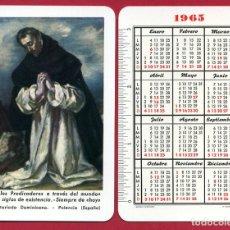 Coleccionismo Calendarios: CALENDARIO FOURNIER, PUBLICIDAD FRAILES SECRETARIADOS DOMINICANO , 1965 , ORIGINAL , CAD 283. Lote 166695114