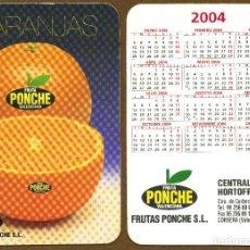 Coleccionismo Calendarios: CALENDARIOS BOLSILLO - FRUTAS PONCHE 2004. Lote 166808666