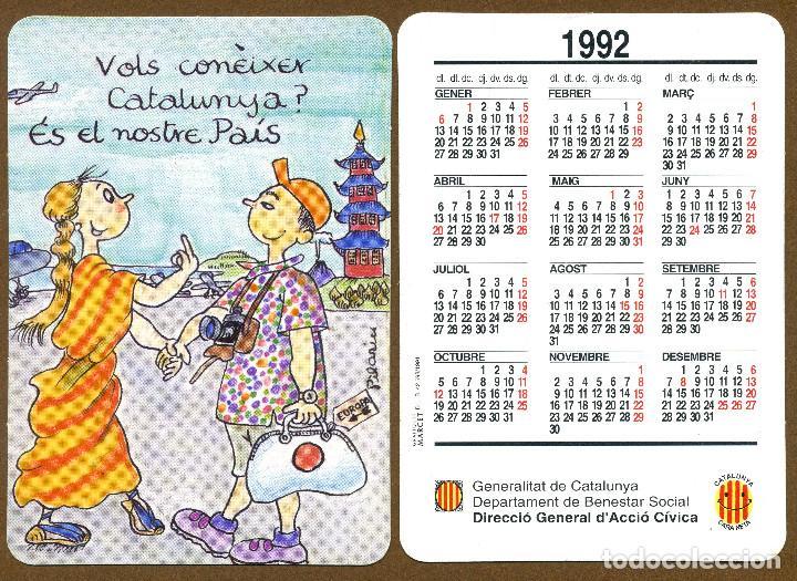 CALENDARIOS BOLSILLO - GENERALITAT DE CATALUNYA BENESTAR SOCIAL 1992 (Coleccionismo - Calendarios)