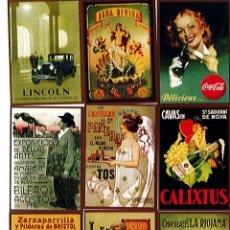 Coleccionismo Calendarios: COLECCIÓN DE CARTELES ANTIGUOS DE PROPAGANDA. Lote 166861872