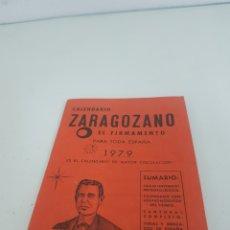Coleccionismo Calendarios: CALENDARIO ZARAGOZANO 1979. Lote 167020137