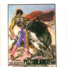 Coleccionismo Calendarios: CALENDARIO 1986 CARTEL POZOBLANCO (MUERTE DE PAQUIRRI). Lote 167088100