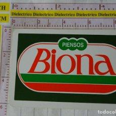 Coleccionismo Calendarios: CALENDARIO DE BOLSILLO FOURNIER. AÑO 1989 PIENSOS BIONA. Lote 167552608