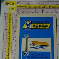 Coleccionismo Calendarios: CALENDARIO DE BOLSILLO FOURNIER. AÑO 1972 HERRAMIENTA ACESA. Lote 167552876