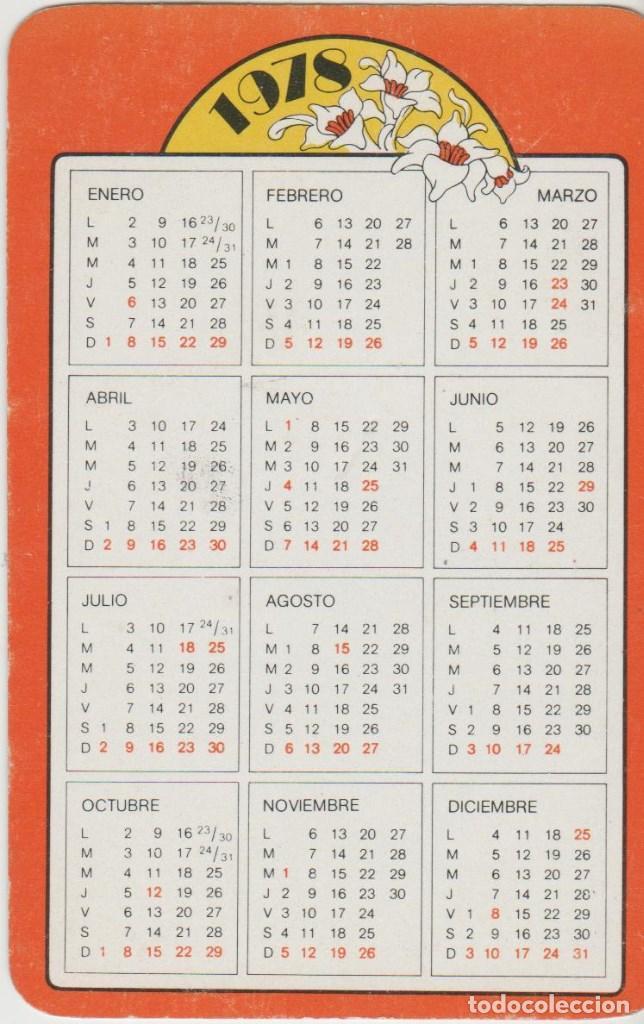 Calendario Enero 1978.Calendarios Calendario Ano 1978