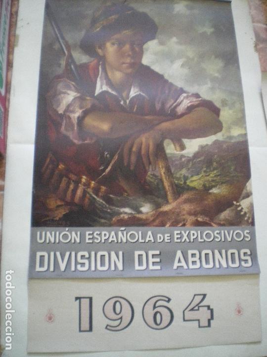 CALENDARIO UNION EXPLOSIVOS 1964 (Coleccionismo - Calendarios)
