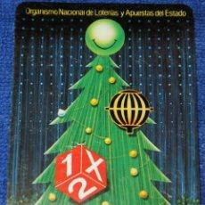 Coleccionismo Calendarios: ORGANISMO NACIONAL DE LOTERÍAS Y APUESTAS DEL ESTADO - 1X2 - FOURNIER (1989). Lote 168318088
