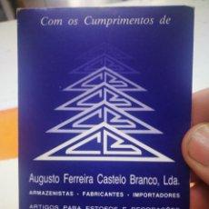 Coleccionismo Calendarios: CALENDARIO AUGUSTO FERREIRA CASTELO BRANCO LDA 1985. Lote 168330244