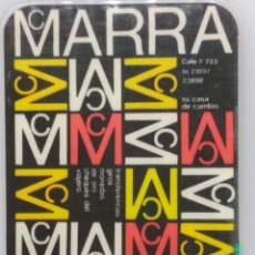 Coleccionismo Calendarios: CALENDARIO DE MCMARRA CASA DE CAMBIO DE 1970, PLASTIFICADO.. Lote 168333024