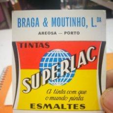 Coleccionismo Calendarios: CALENDARIO SUPERLAC BRAGA AND MOUTINHO LDA 1985. Lote 168333304